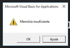 Erro de Memória Insuficiente 1