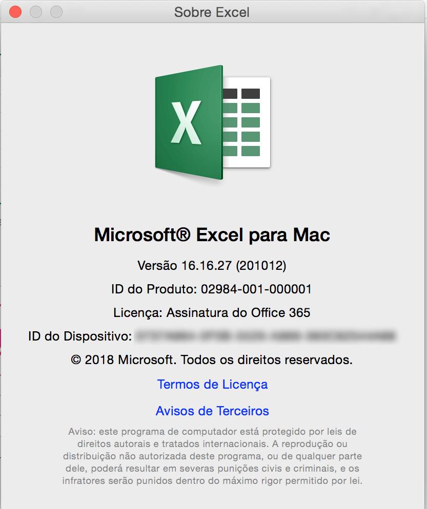Como saber a versão do meu Excel e Sistema Operacional? 5