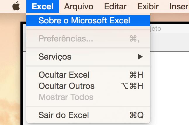 Como saber a versão do meu Excel e Sistema Operacional? 4